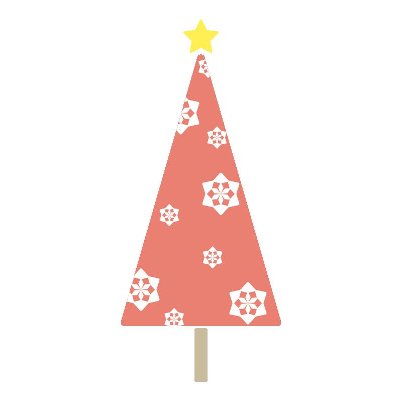 雪の結晶のツリー(赤)