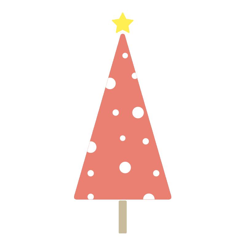 雪のツリー(赤)
