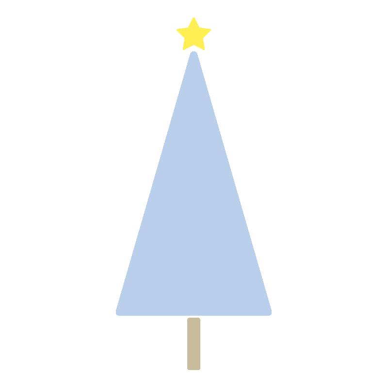 三角のツリー(青)