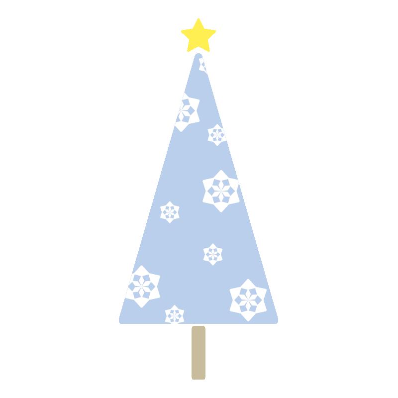 雪の結晶のツリー(青)