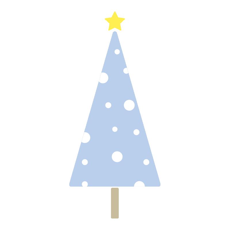 雪のツリー(青)