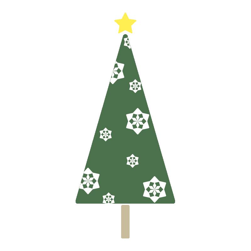 雪の結晶のツリー(緑)