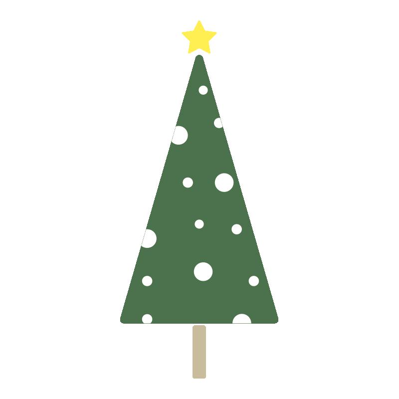雪のツリー(緑)