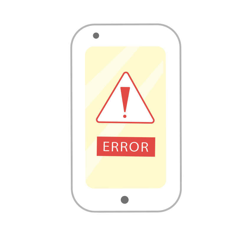 エラーの画面のスマートフォン2