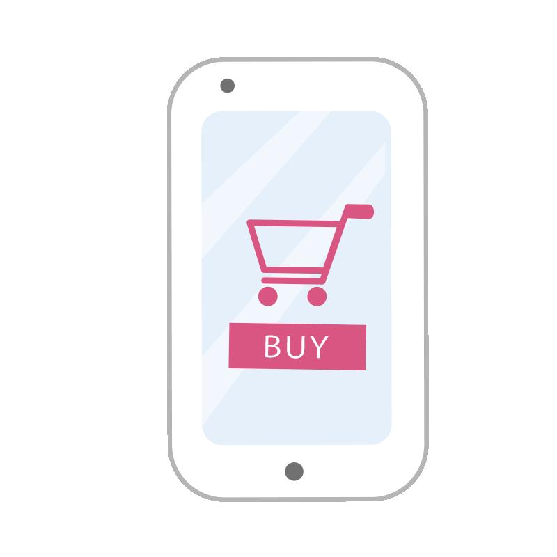 購入画面のスマートフォン2