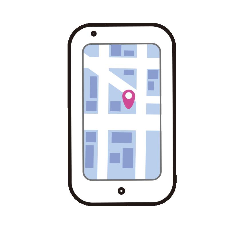 地図の画面のスマートフォン1