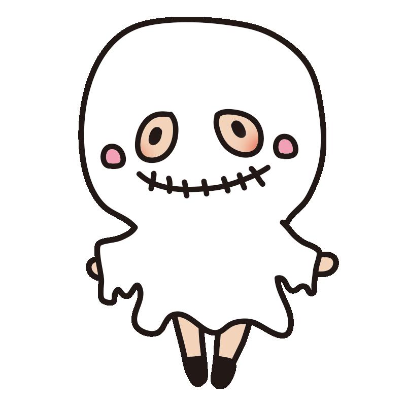仮装した子供(お化け)
