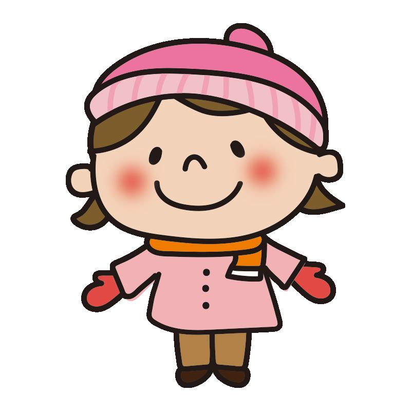 ニット帽をかぶる女の子
