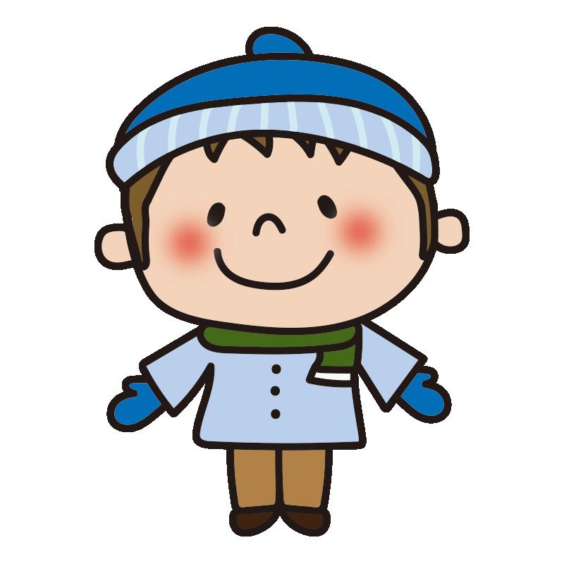 ニット帽をかぶる男の子