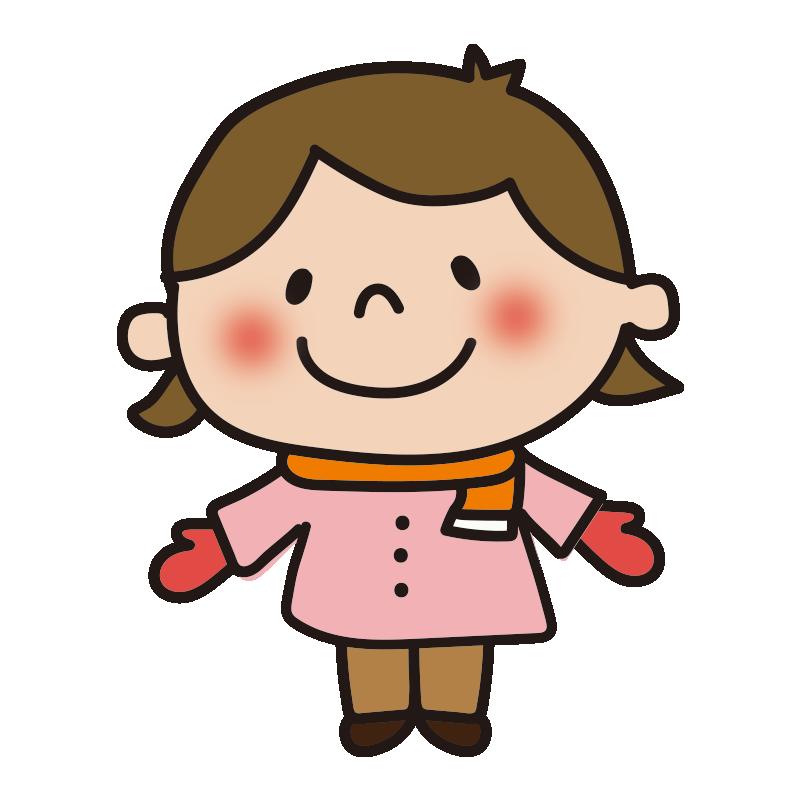 長袖の女の子1