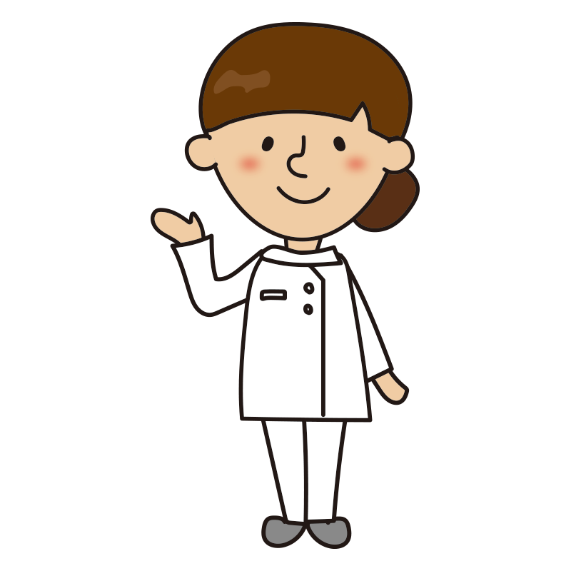 案内する看護師