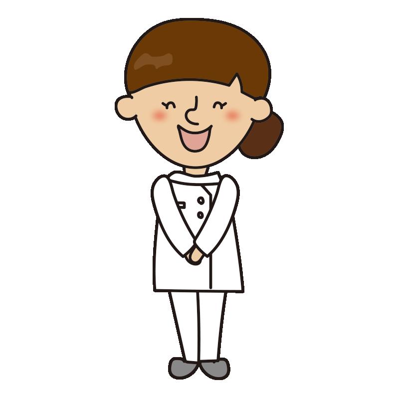 笑顔で立っている看護師
