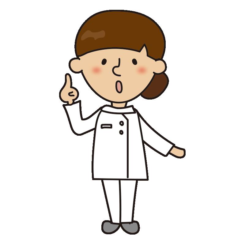 指をさしている看護師1