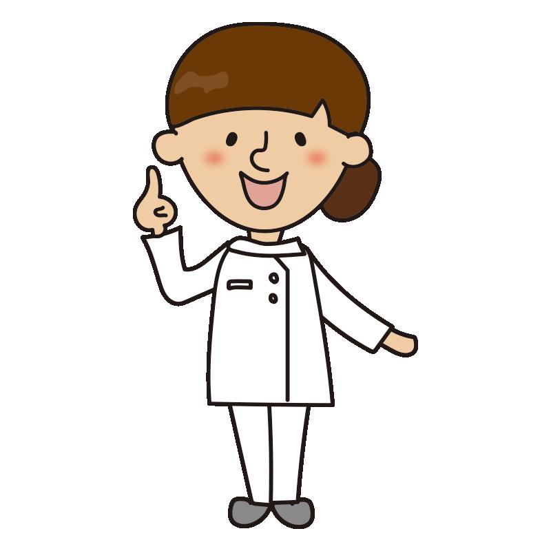 指をさしている看護師2
