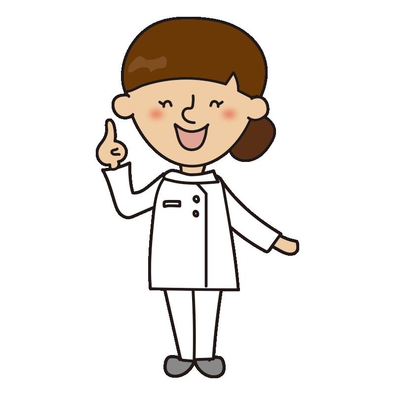 指をさしている看護師3