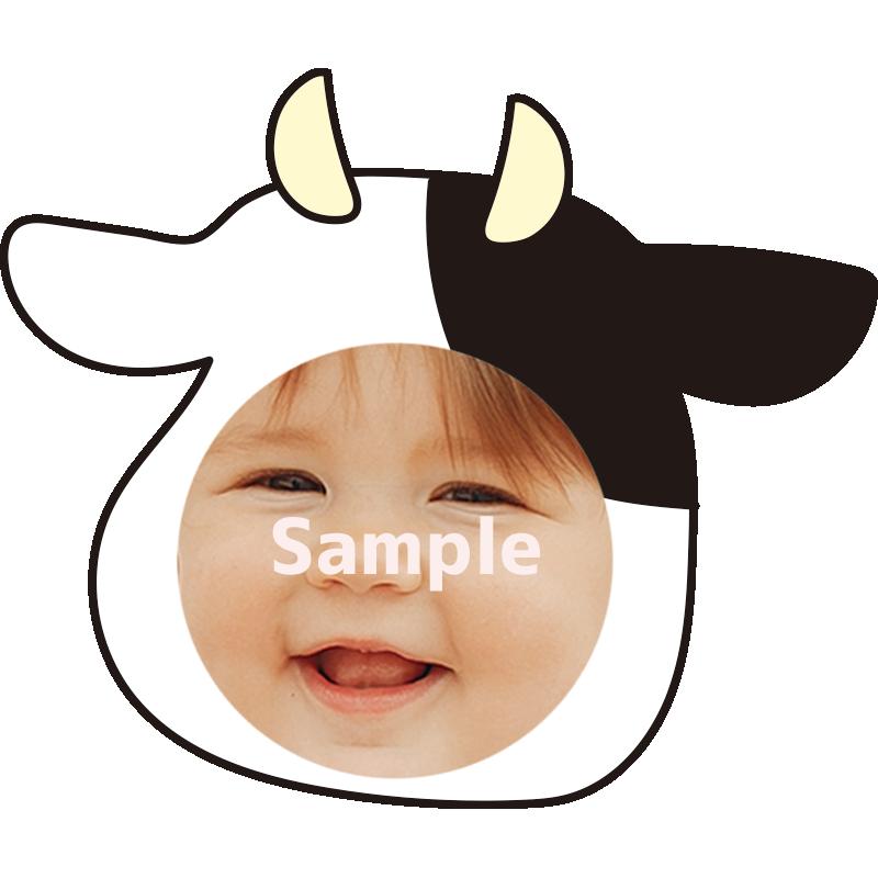 【顔はめ】牛