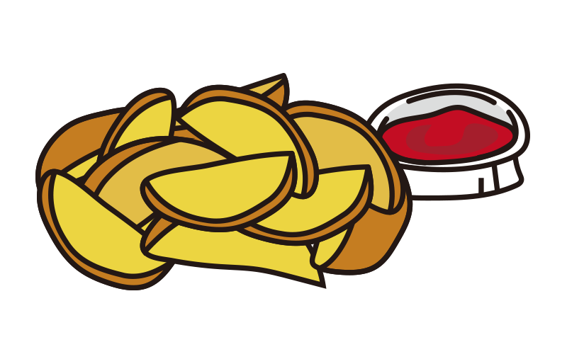 ケチャップとフライドポテト