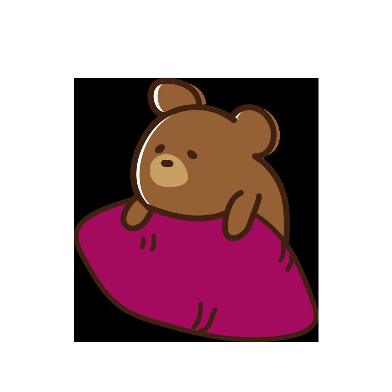 焼き芋とクマ