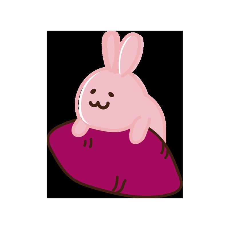 焼き芋とウサギ