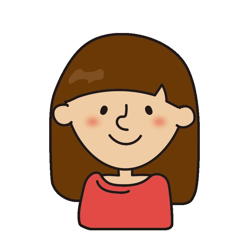 髪の長い女性2