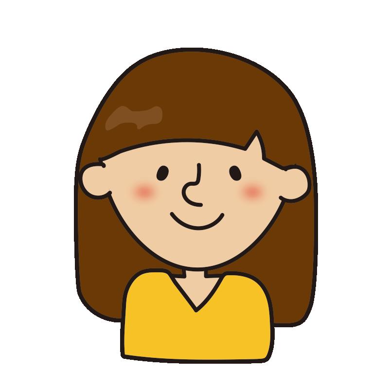 髪の長い女性3