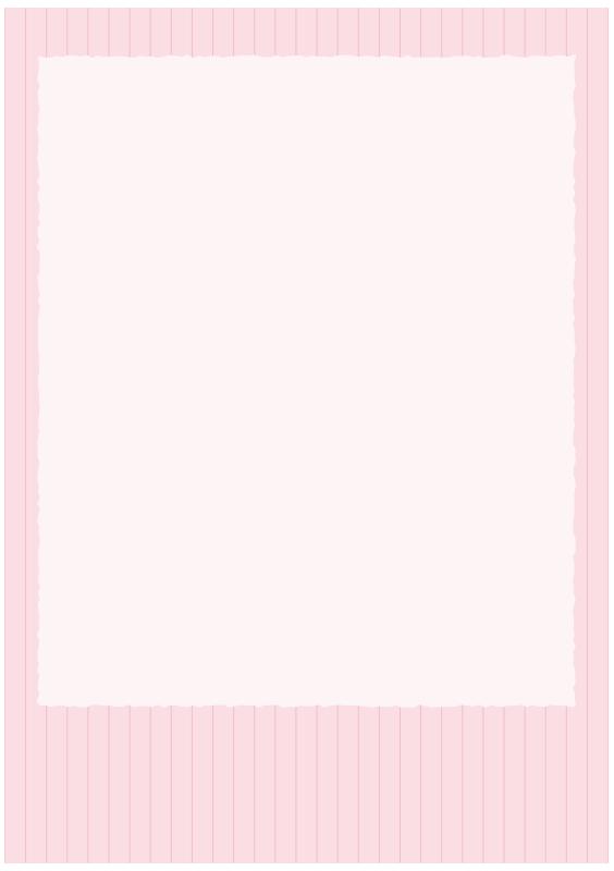 ストライプのピンクの枠(A4縦)