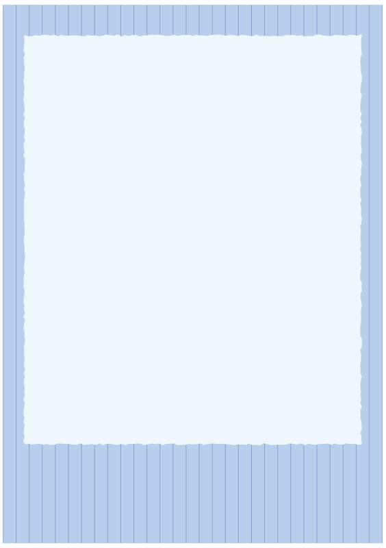 ストライプの青い枠(A4縦)