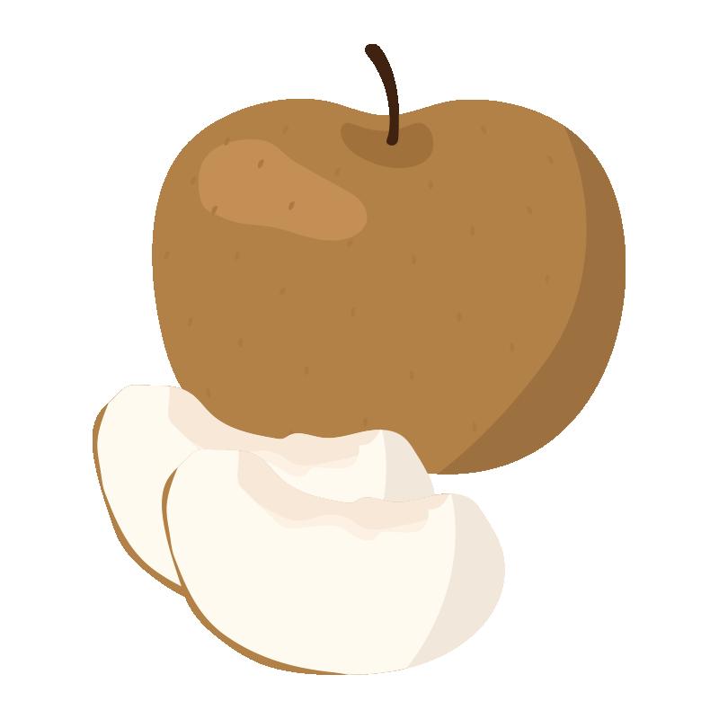 カットされた梨とまるごとの梨
