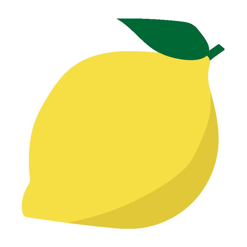 葉っぱの付いたレモン
