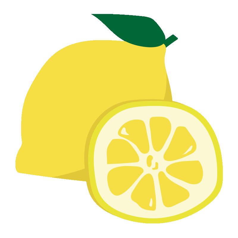 輪切りのレモンとまるごとレモン