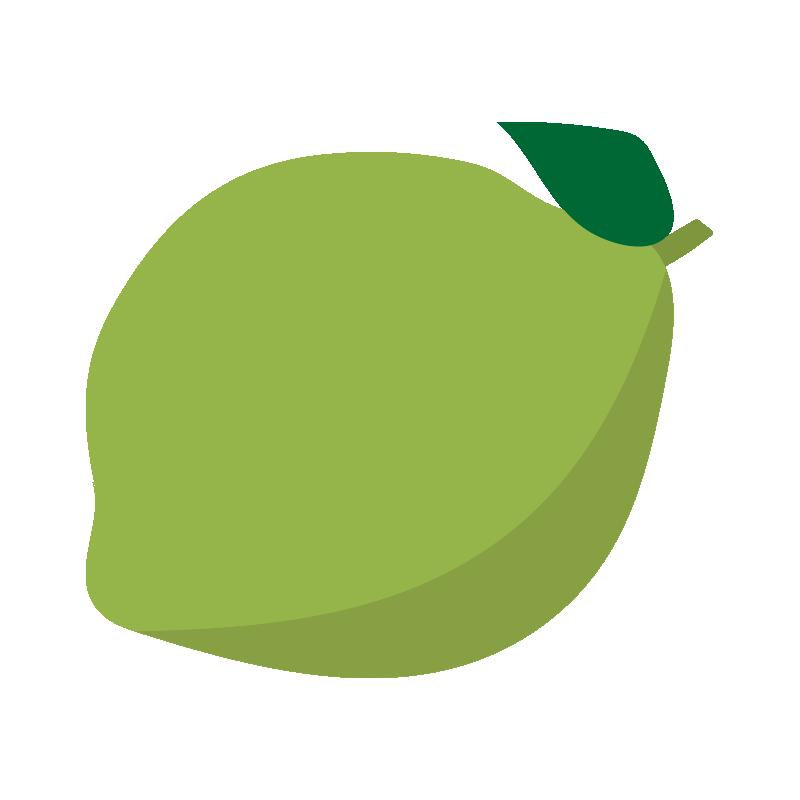 葉っぱの付いたライム
