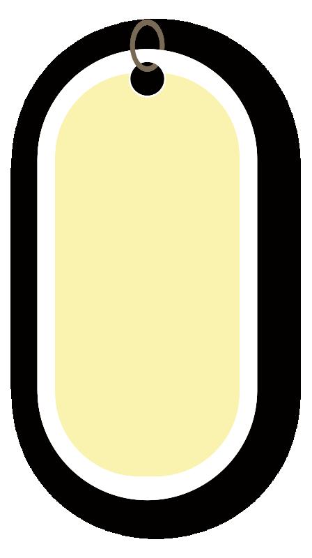 丸みのある黄色いタグ