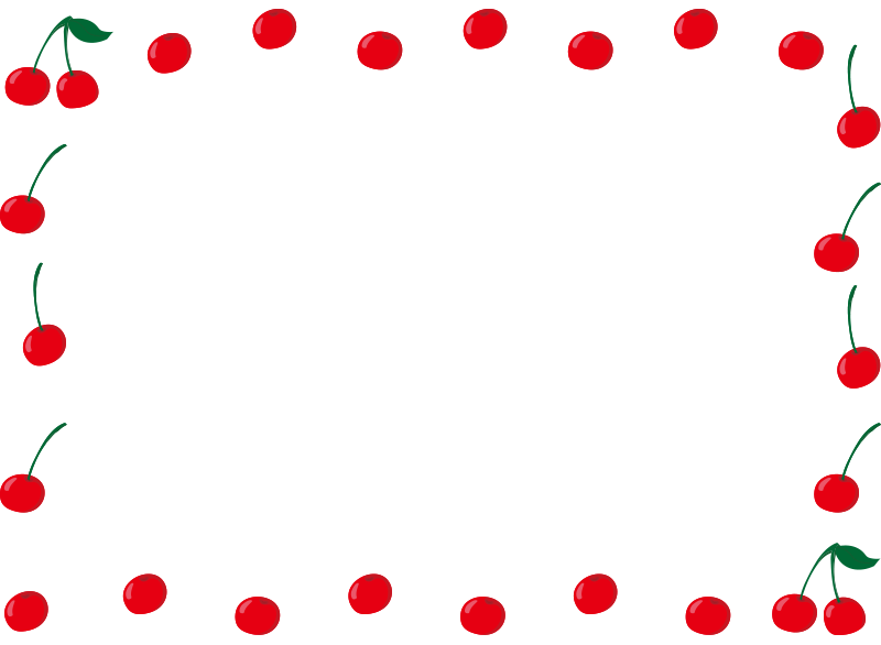 さくらんぼの囲み枠