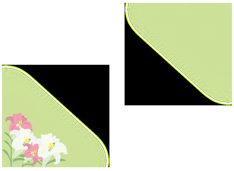 ユリの花の枠
