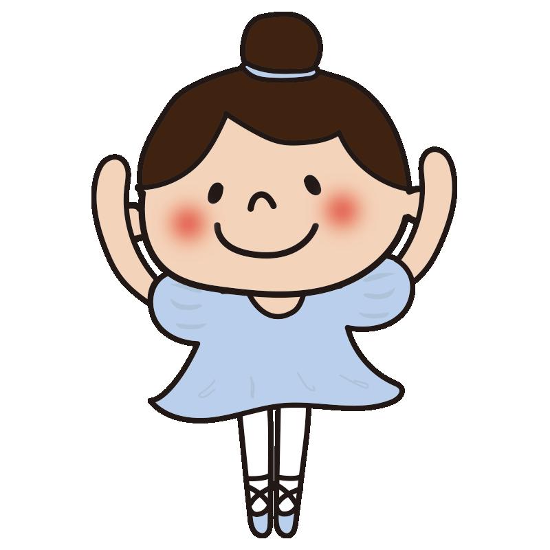 青いドレスでバレエを踊っている女の子3