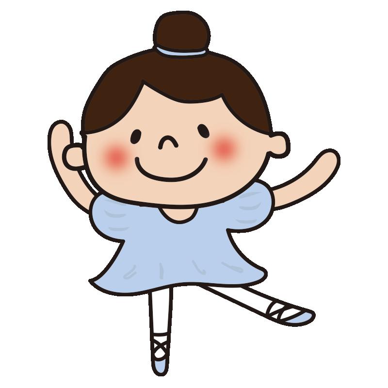 青いドレスでバレエを踊っている女の子1
