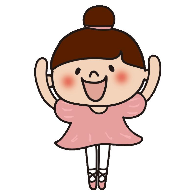 ピンクのドレスでバレエを踊っている女の子4