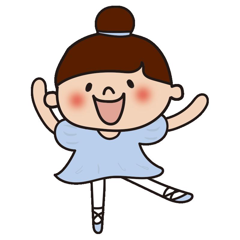 青いドレスでバレエを踊っている女の子2