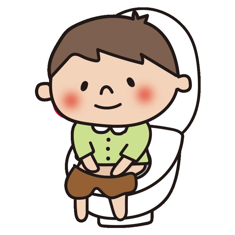 トイレトレーニングしている男の子