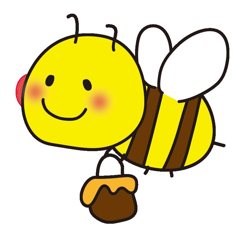 蜂蜜を持ったミツバチ1