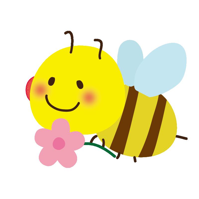 お花を持ったミツバチ2