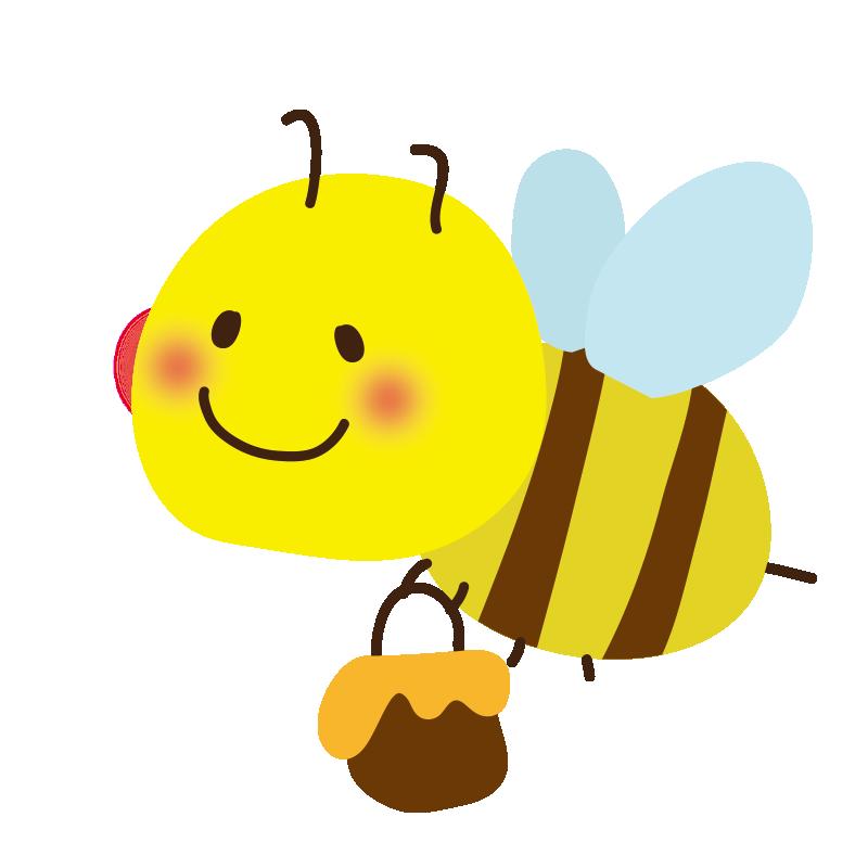 蜂蜜を持ったミツバチ2