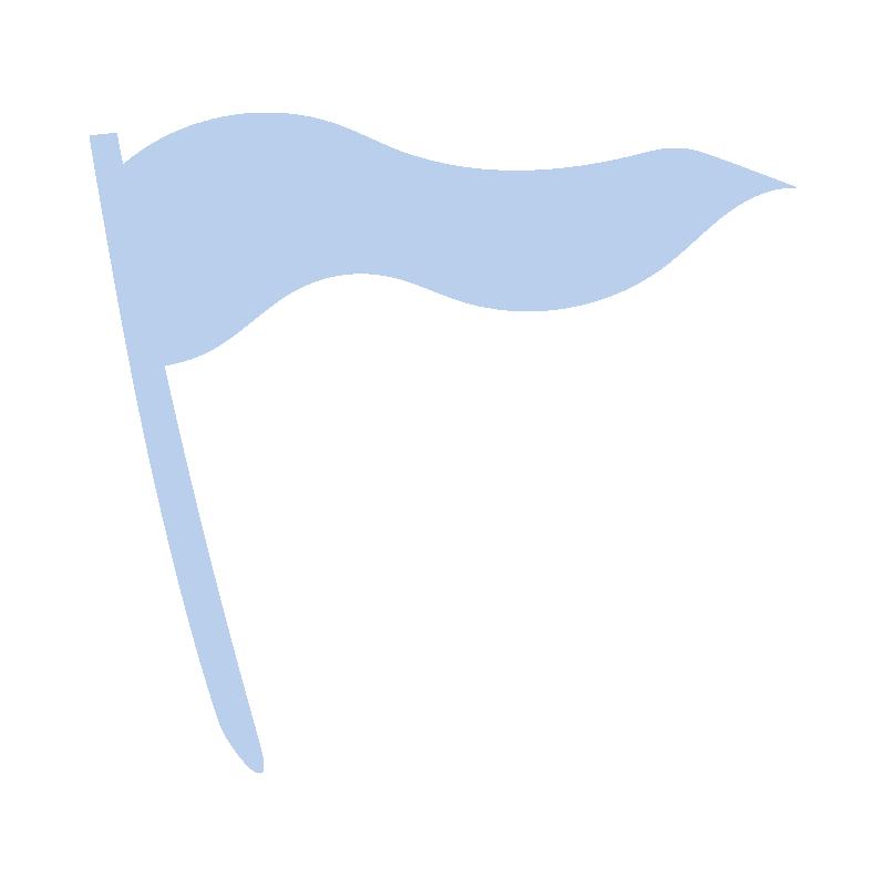 なびいている青い旗