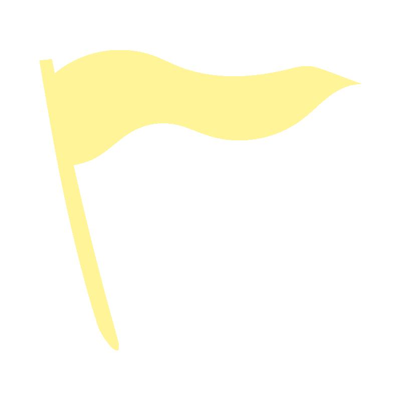 なびいている黄色い旗