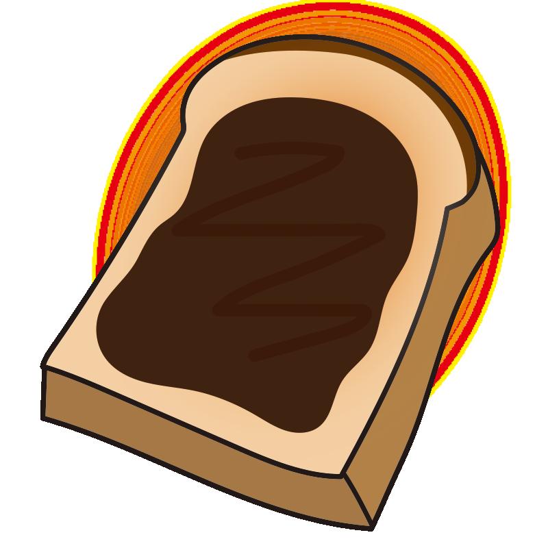 チョコレートを塗ったトースト