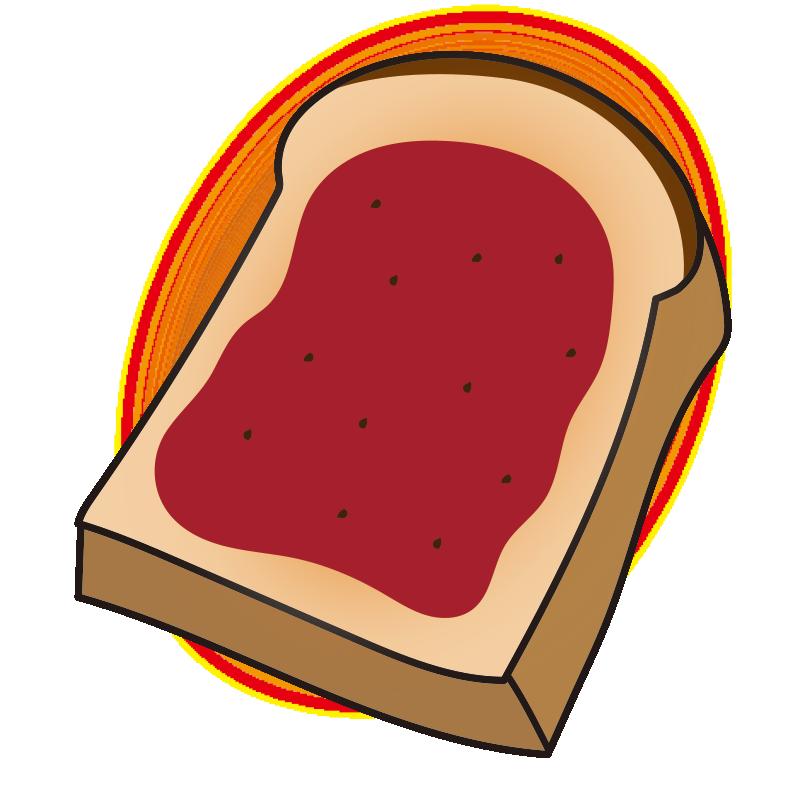 いちごジャムを塗ったトースト