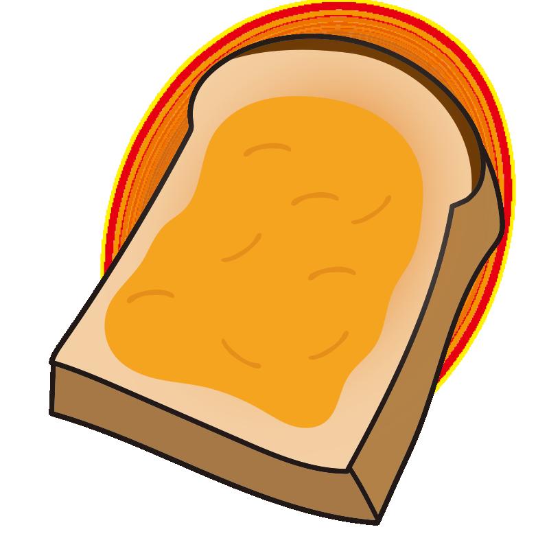 マーマレードを塗ったトースト