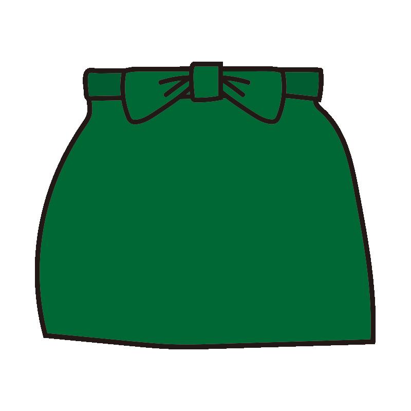 腰巻きのエプロン(緑)