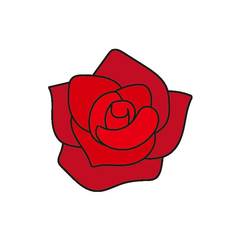赤いバラの花1