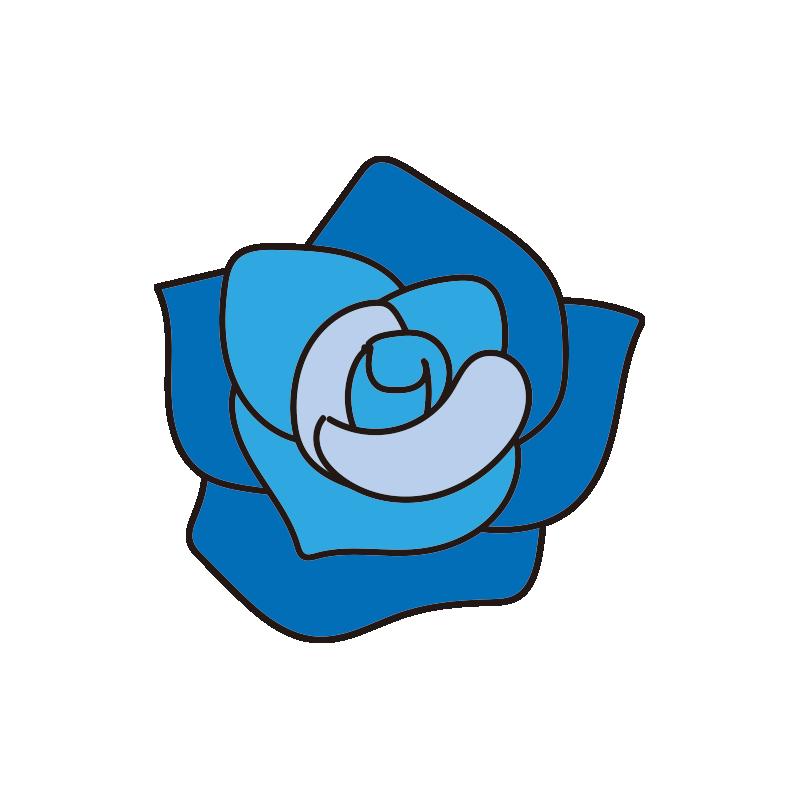 青いバラの花1